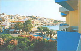 View from the balcony towards the town