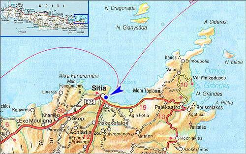 Sitia: Site Map